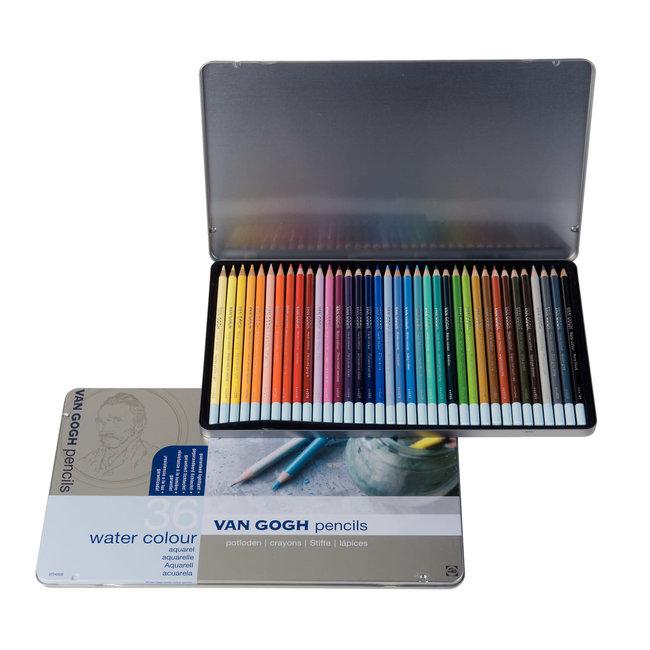 Van Gogh Uitgebreide set aquarelpotloden met 36 kleuren