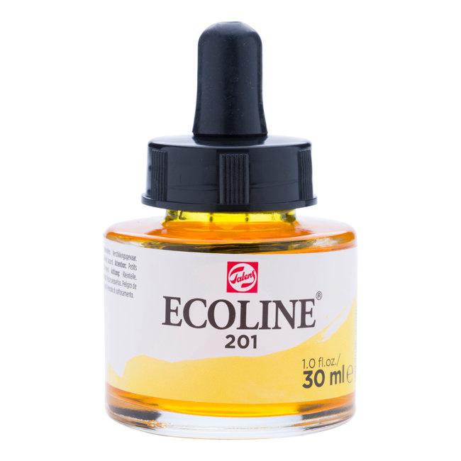 Ecoline Vloeibare Waterverf Flacon 30 ml Lichtgeel 201