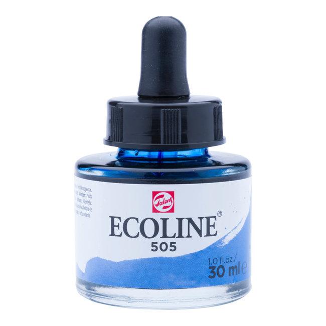 Ecoline Vloeibare Waterverf Flacon 30 ml Ultramarijn Licht 505