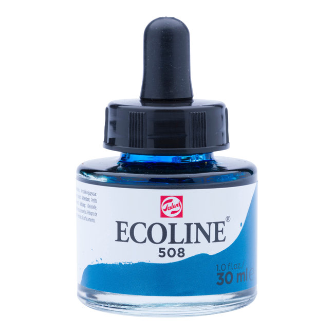 Ecoline Vloeibare Waterverf Flacon 30 ml Pruisischblauw 508
