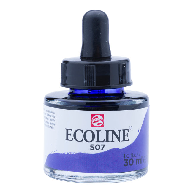 Ecoline Vloeibare Waterverf Flacon 30 ml Ultramarijnviolet 507