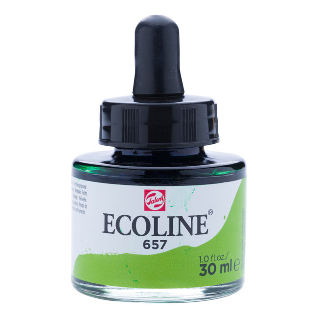 Ecoline Vloeibare Waterverf Flacon 30 ml Bronsgroen 657