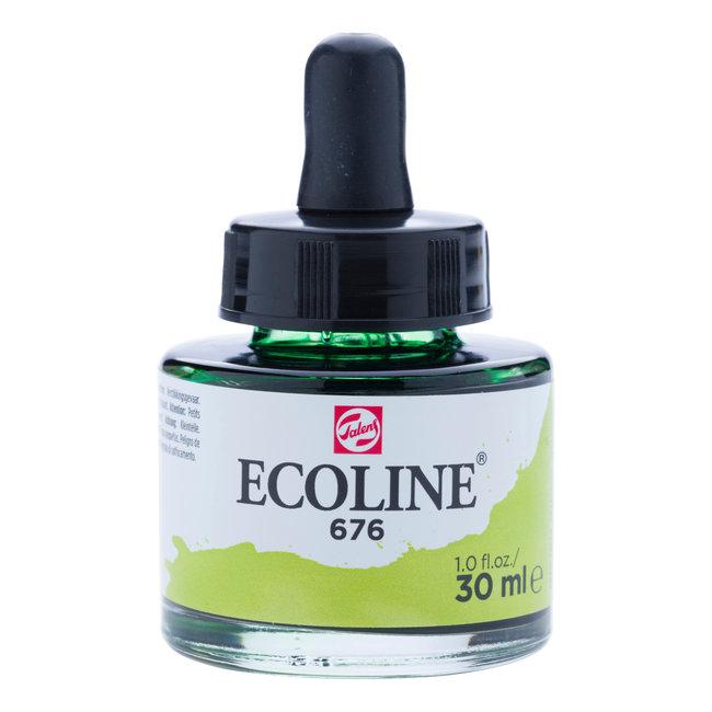 Ecoline Vloeibare Waterverf Flacon 30 ml Grasgroen 676