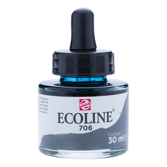 Ecoline Vloeibare Waterverf Flacon 30 ml Donkergrijs 706