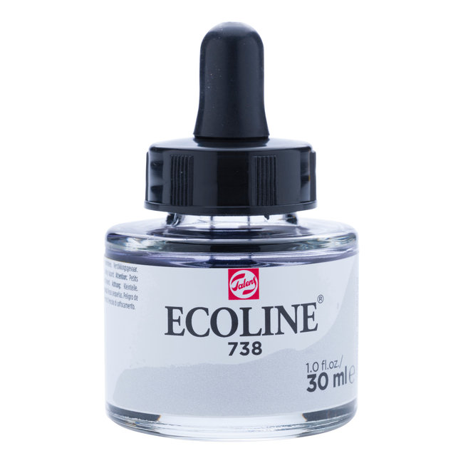 Ecoline Vloeibare Waterverf Flacon 30 ml Koudgrijs Licht 738