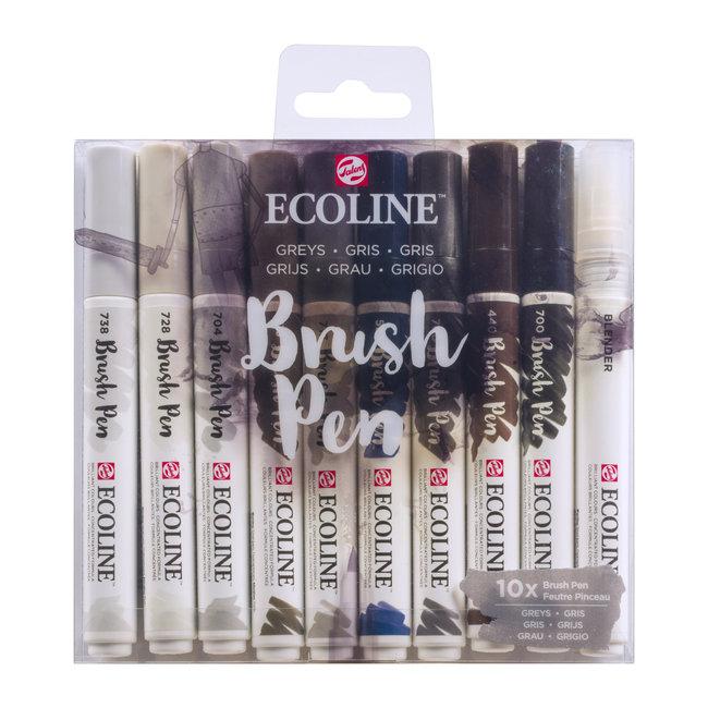 Ecoline Ecoline Set van 10 Brush Pens - Grijs