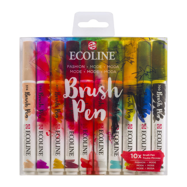 Ecoline Ecoline Set van 10 Brush Pens - Mode