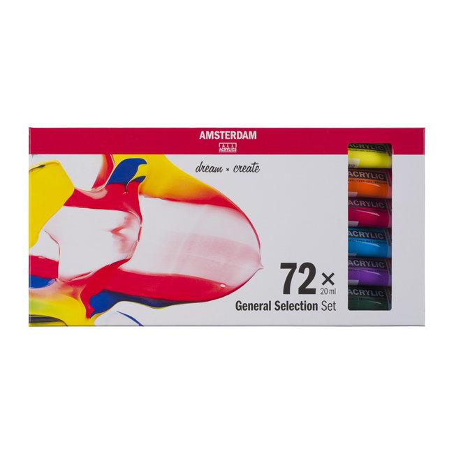 Amsterdam Standard Series Acrylics Algemene selectieSet72× 20 ml