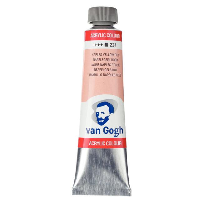 Van Gogh Acrylverf Tube 40 ml Napelsgeel Rood 224