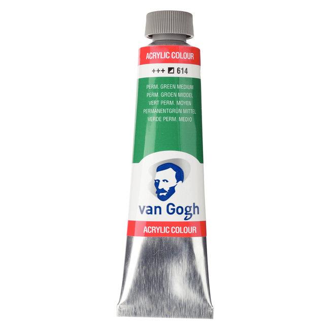 Van Gogh Acrylverf Tube 40 ml Permanentgroen Middel 614