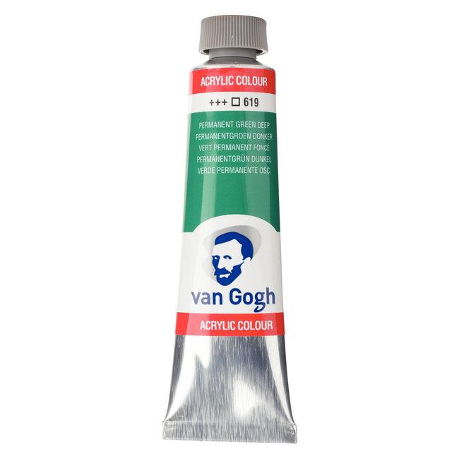 Van Gogh Acrylverf Tube 40 ml Permanentgroen Donker 619