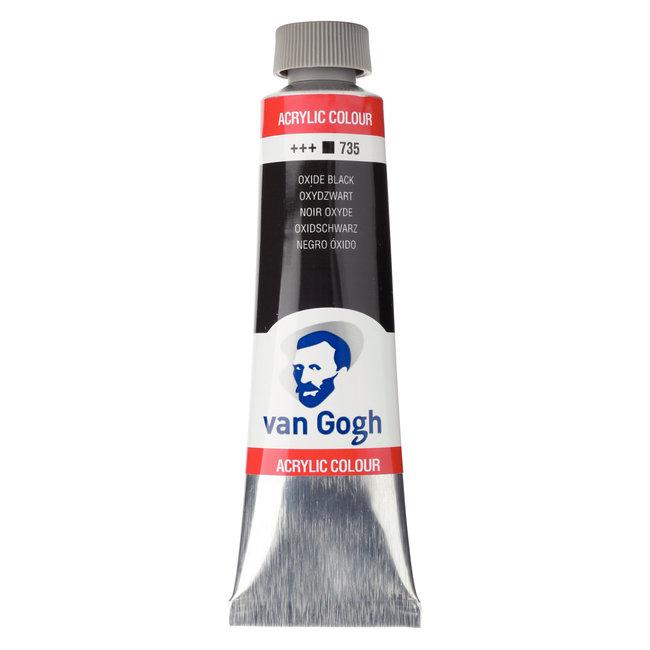 Van Gogh Acrylverf Tube 40 ml Oxydzwart 735