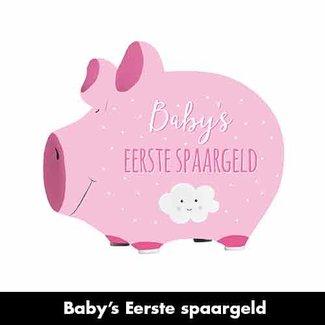 Artige Spaarvarken Baby's eerste spaargeld roze