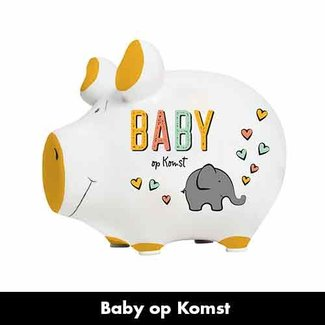Artige Spaarvarken Baby op komst