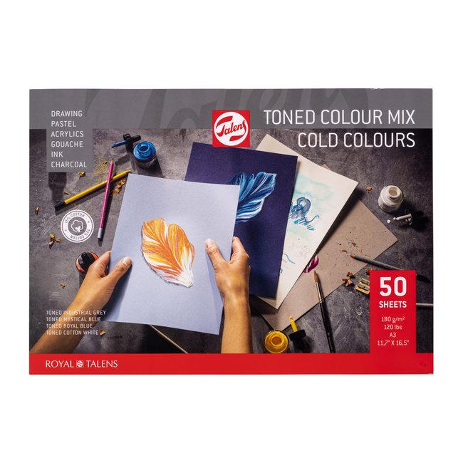 Talens Toned Paper mix koud, A3, 180 g, 50 Vellen,