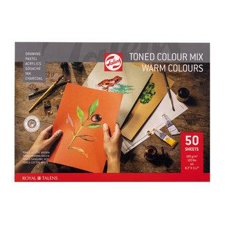 Royal Talens Talens Toned Paper mix warm, A4, 180 g, 50 Vellen,