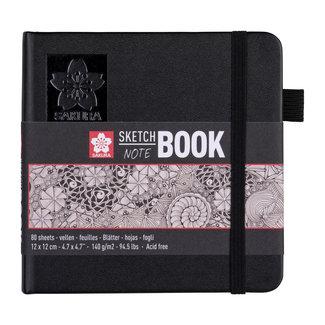 Sakura Sakura schets-/notitieboek 12x12 cm, 80 pagina's crèmewit papier 140g