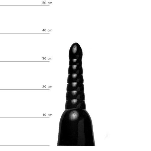 All Black Anal Dildo 34 x 11 cm