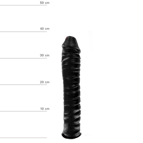 All Black Giant Dildo 38 x 8.5 cm