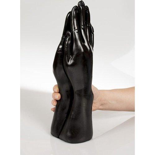 Dark Crystal Schwarz Giant Double Fist Dildo 32 x 8,9cm