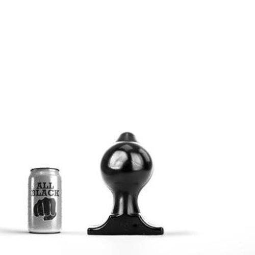 All Black Butt Plug 18 x 10 cm
