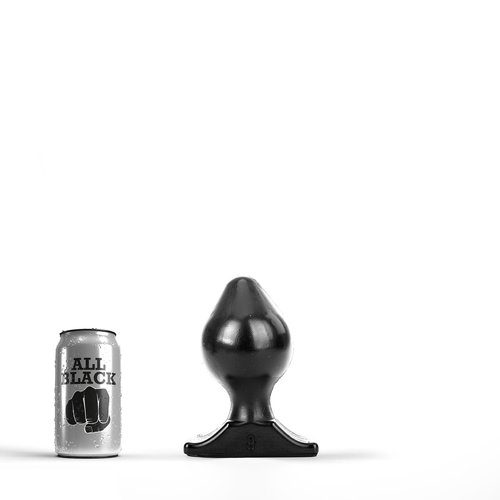All Black Butt Plug 17 x 9cm