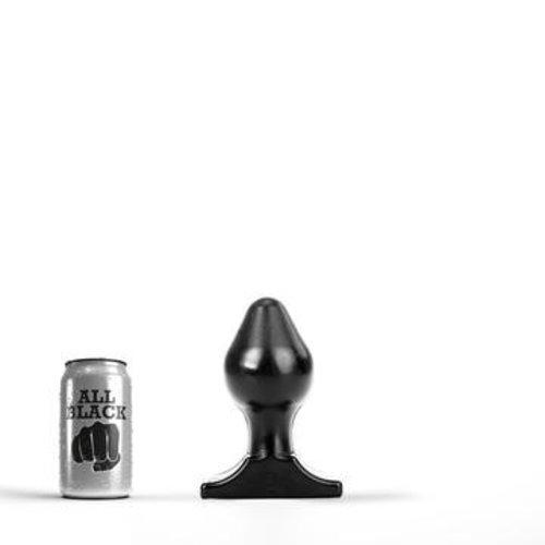 All Black Butt Plug 16 x 8 cm