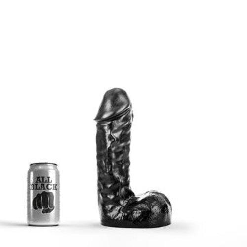 All Black klassieke Dildo 24,5 x 6,3cm