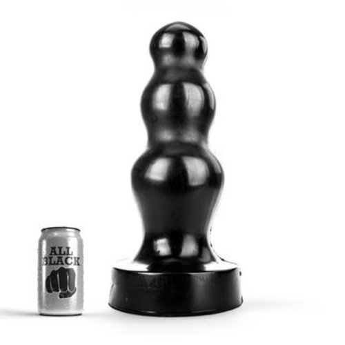 All Black Riesen dreifach Butt Plug 38 x 11,5 cm