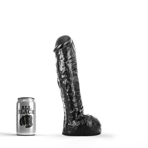All Black klassieke Dildo 30 x 5.7cm