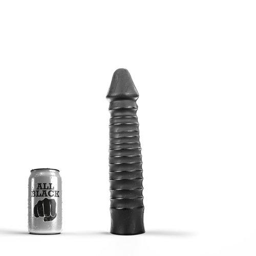 All Black klassieke Dildo 26 x 5cm