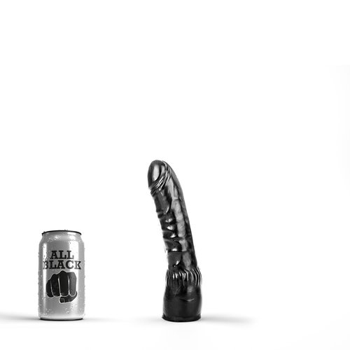 All Black klassieke Dildo 20 x 4.5cm
