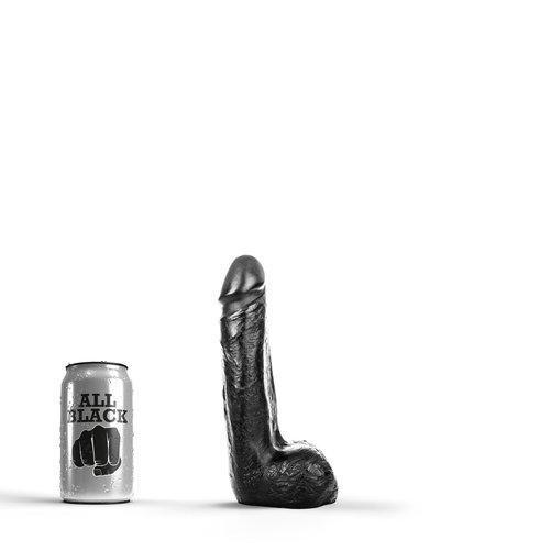 All Black klassieke Dildo 20 x 4,5cm