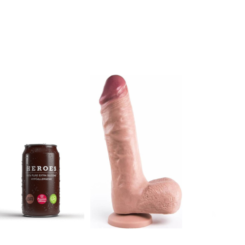 Heroes Dildo Reed with suction cup 23 x 5cm