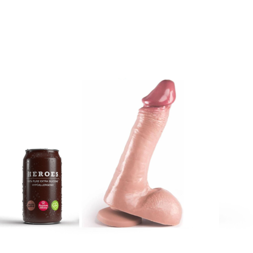 Heroes Dildo Steve with suction cup 21 x 4.5cm