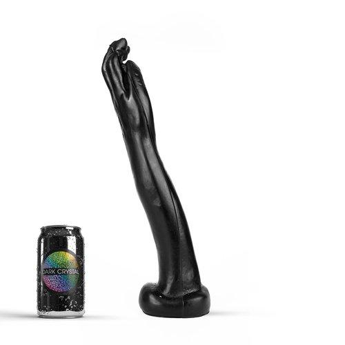 Dark Crystal Schwarz Giant Fist Dildo 36,5 x 6cm