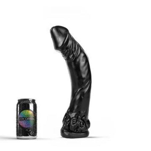 Dark Crystal Schwarzer Riesen-Dildo XXL 35 x 7cm