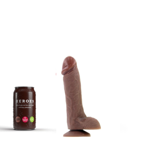 Heroes Dildo flesh with suction cup 18 x 4.5cm