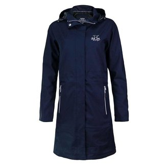 HARCOUR HARCOUR Shirley lange regenjas navy SMALL