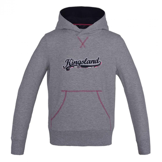 KINGSLAND KINGSLAND Contes sweater hooded grey/pink 8j