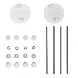 Set d&d bouten serie 110/120 RVS wit