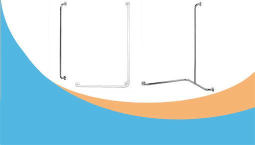Douchebeugels / Glijstangen geschikt voor onder douche en bij het bad