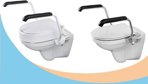 Toiletbeugelsets: elegante armleggers ter ondersteuning op het toilet