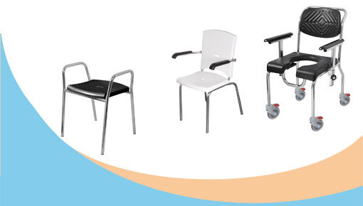 Douchestoelen & douchekrukken, postoelen  ergonomisch, comfortabel en veilig