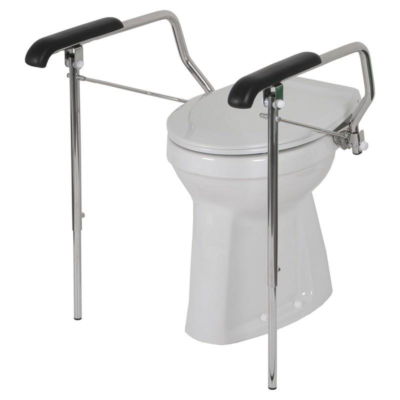 Toiletbeugelset verlengde armleggers inclusief steunpoten