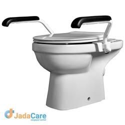 Toiletbeugel-set met verlaagde armleggers
