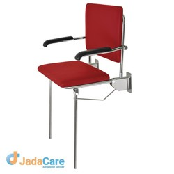 Douchezitting maatwerk soft seat zit- en rugdeel vaste steunpoot