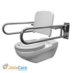 Rugsteun op toiletbeugels op wand bevestigd