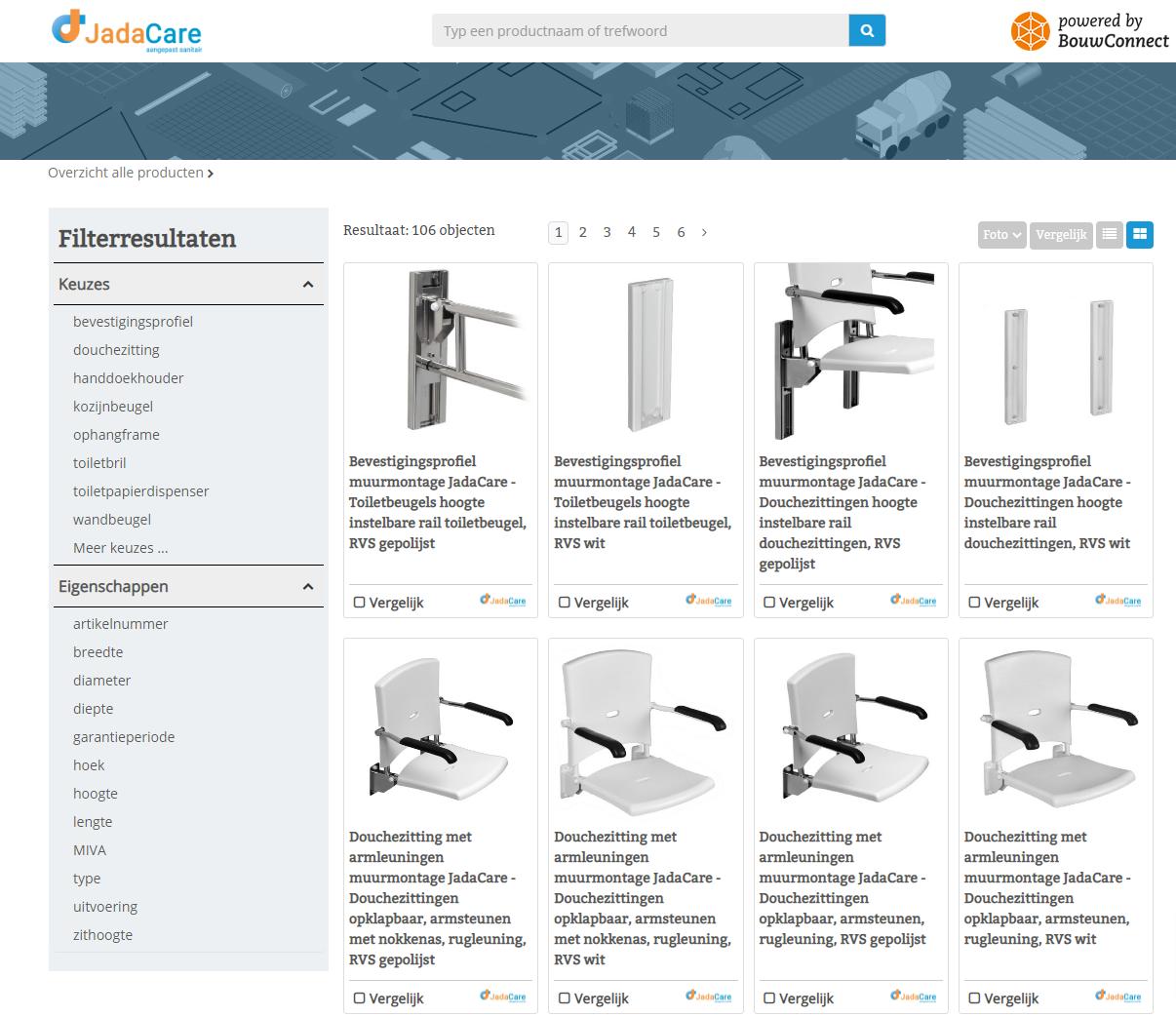 Online technische bibliotheek JadaCare