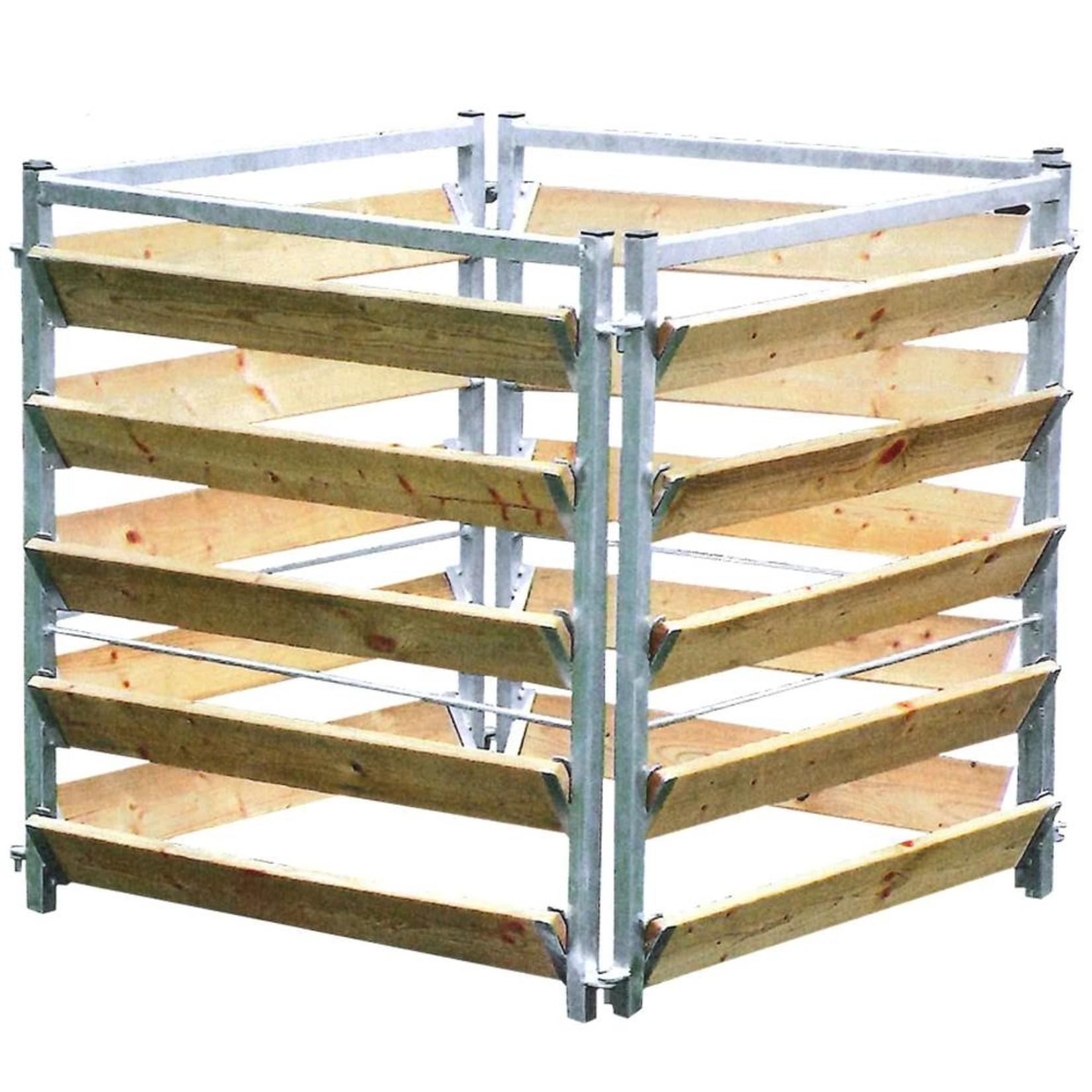 Compostbak hout/metaal 100 cm